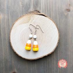 Boucles d'oreilles Candy Corn