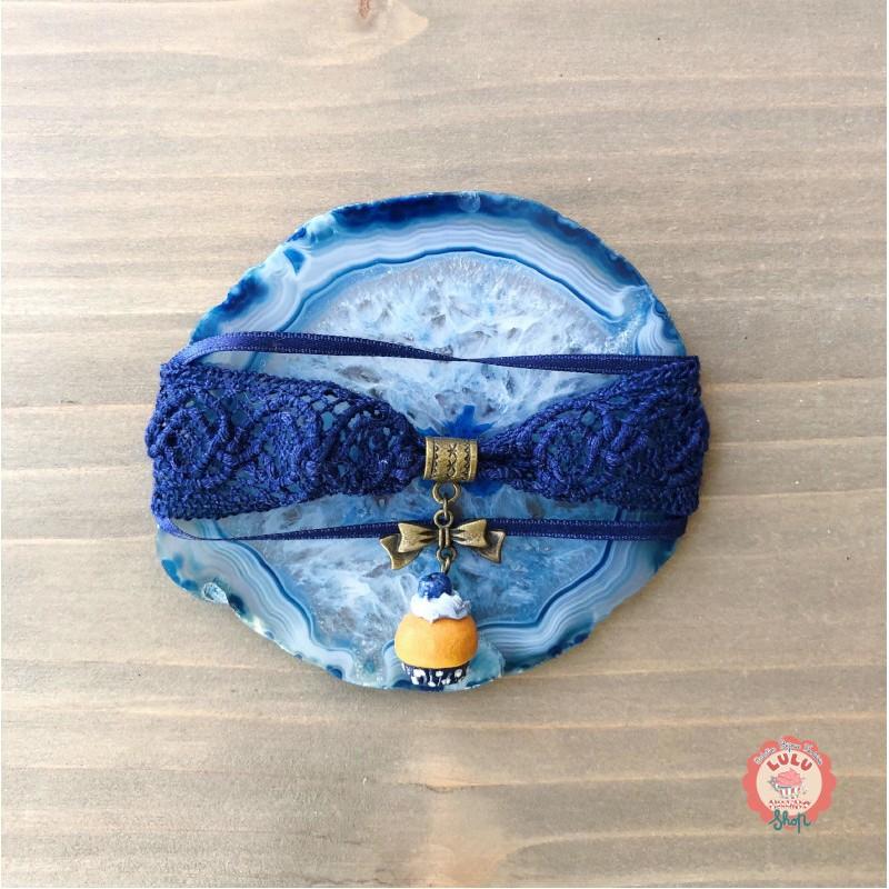 Bracelet Dentelle Cupcake Myrtille