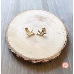 Boucles d'oreilles origami grue
