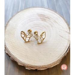 Boucles d'oreilles Origami Ecureuil