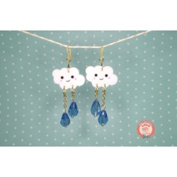 Boucles d'oreilles Cute Cloud